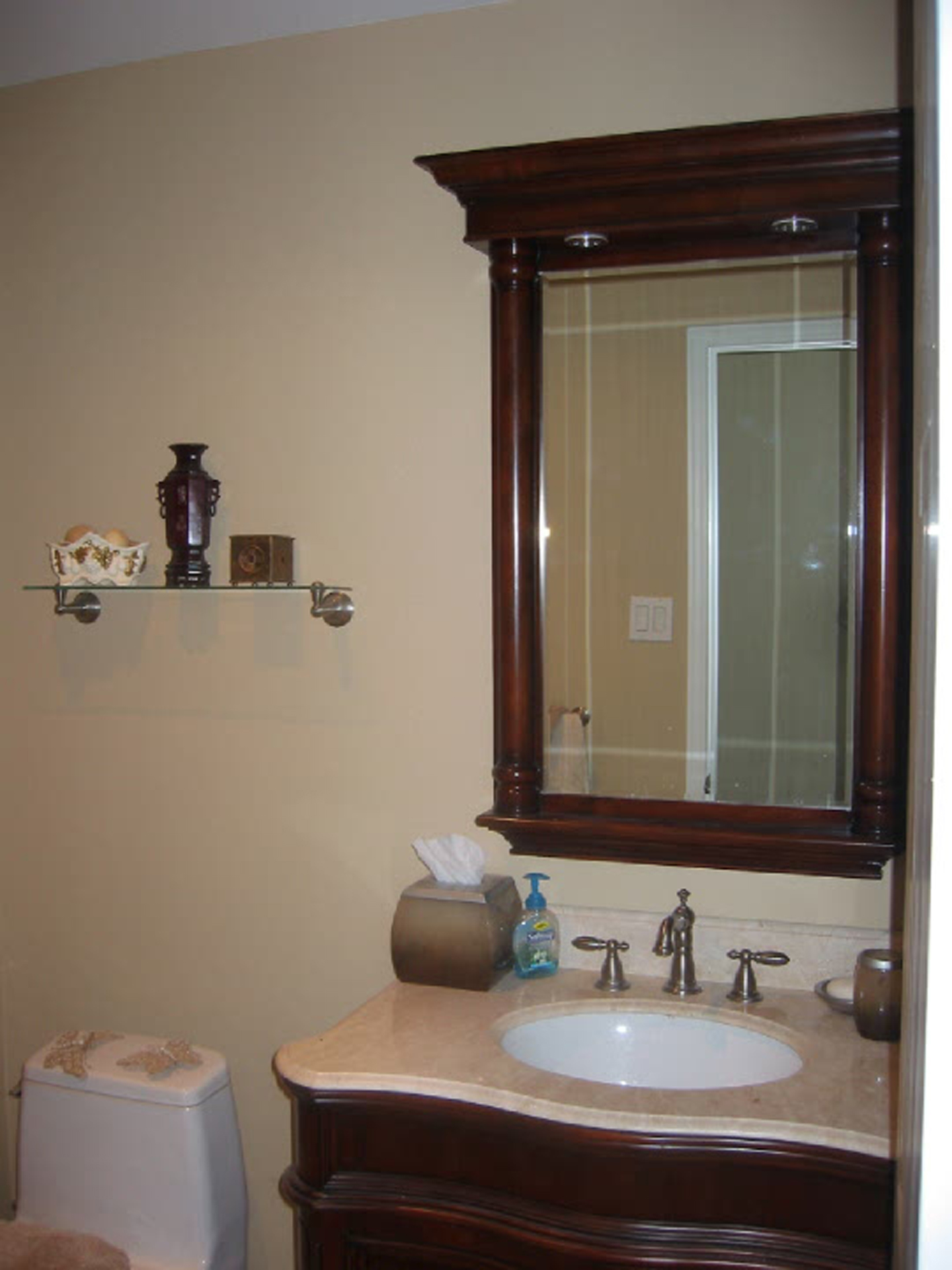 How To Cover Bathroom Tile With Wainscoting Rooms Home Taupe Bathroom