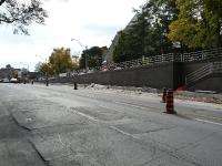 Yonge street concrete wall