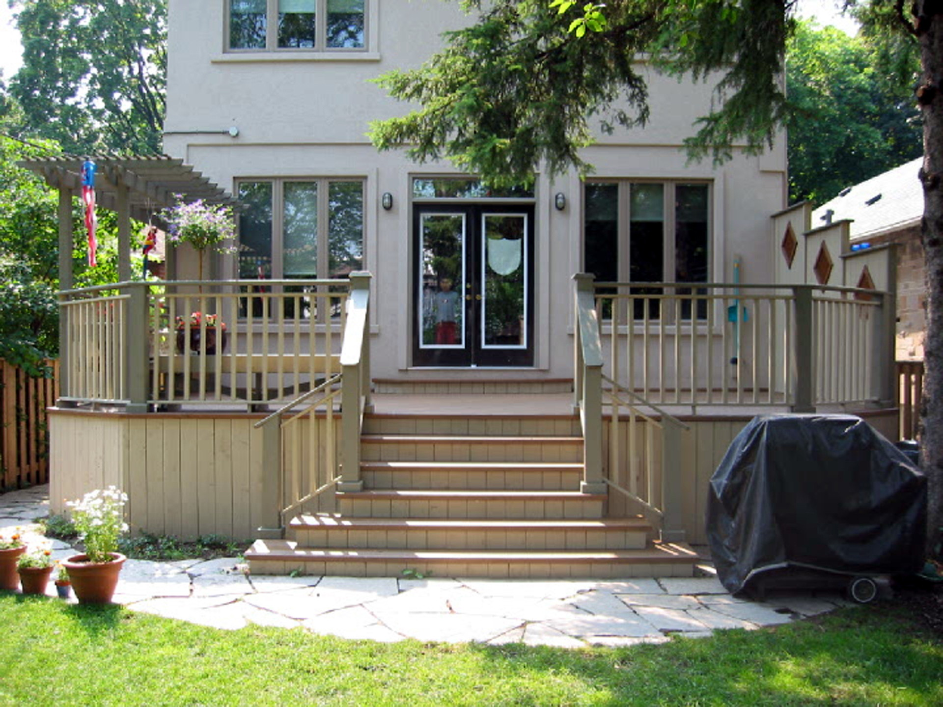 28 decking decking renovations by design wood patios and for Front entry decks