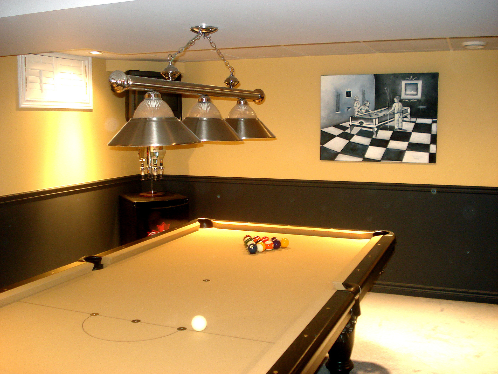 Games Rooms Impressions Painting : pool table and matching walls from impressionspainting.ca size 1920 x 1440 jpeg 2131kB