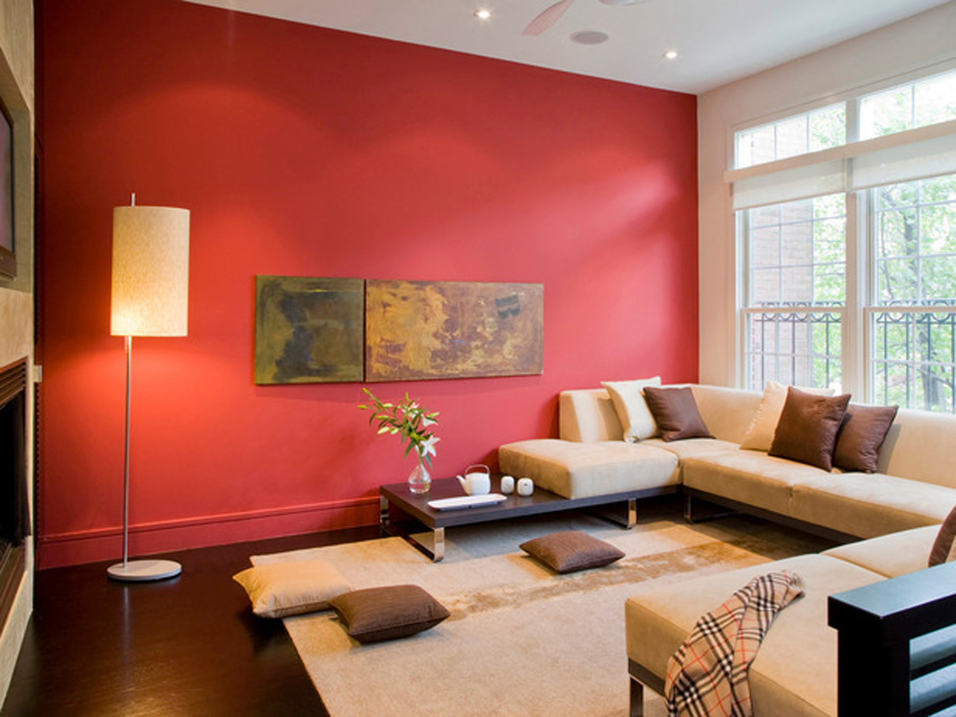 Amazing Red Accent Wall Living Room 1920 x 1440 · 959 kB · jpeg