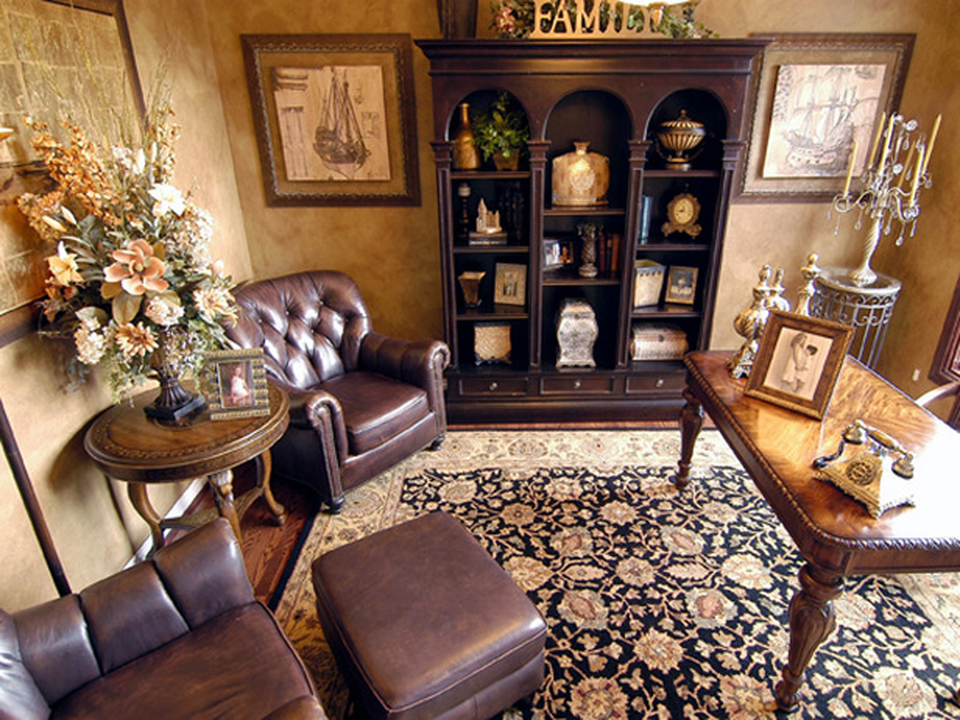 Offices impressions painting - Traditional home office design ideas ...