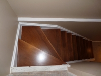 Maple capped stairs after