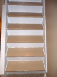 Painted stairs before