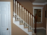 Carpeted stairs before