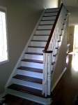 Refinished stairs after