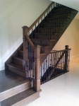 oak stairs after finishing