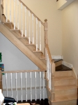 Refinished stairs before