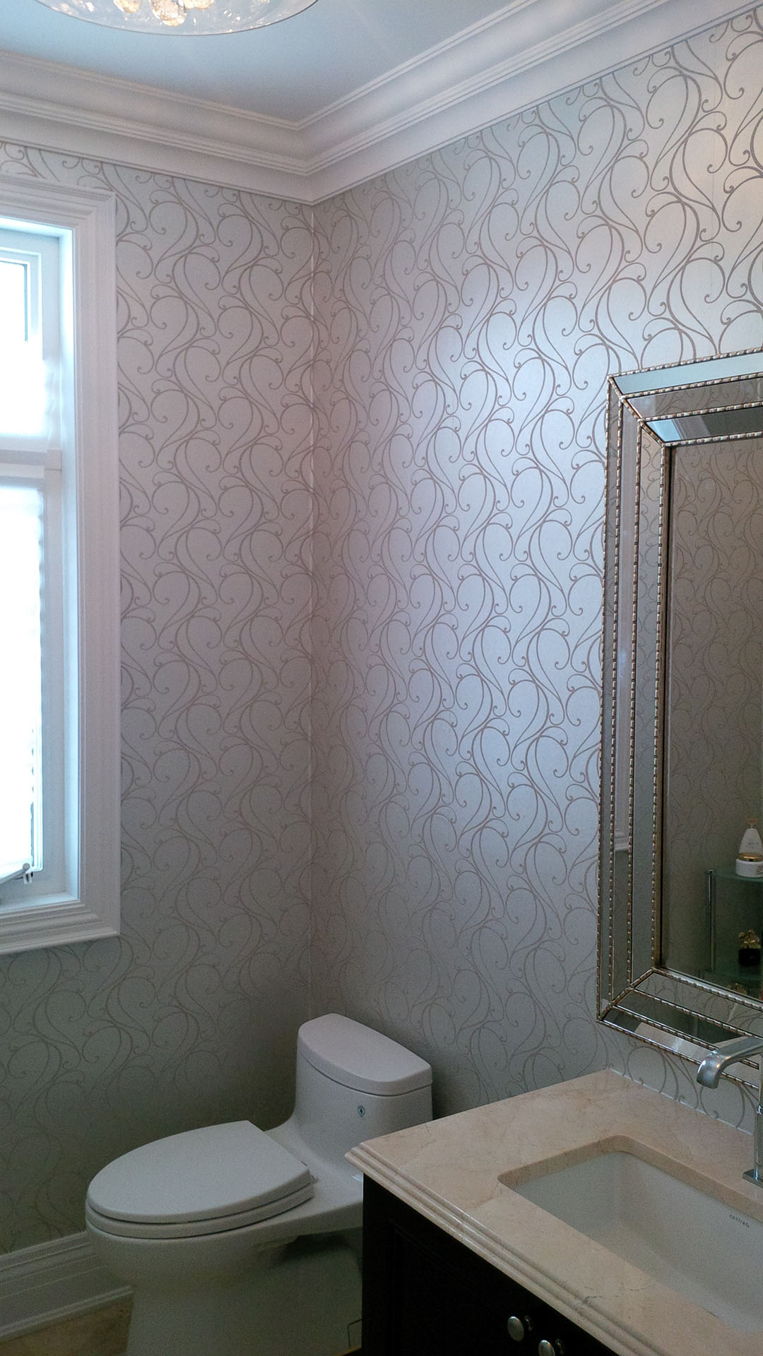 Wallcoverings impressions painting for Wall paper in bathroom